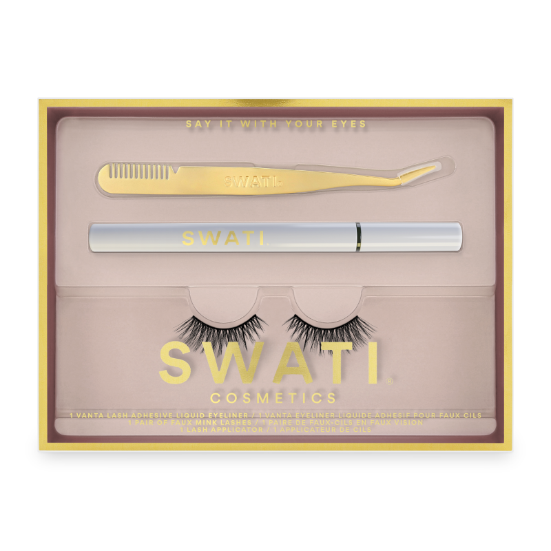 SWATI Classic kit with Vanta eyeliner, lash applicator and Amazonite vegan lashes