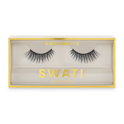 Amazonite packaging - flared shaped vegan & cruelty free lashes