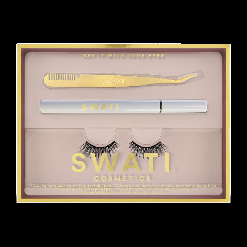SWATI Classic kit with Vanta eyeliner, lash applicator and Amazonite vegan lashes.