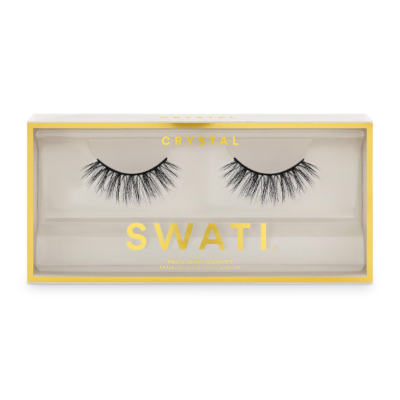 Crystal packaging - medium rounded shaped vegan & cruelty free lashes by SWATI Cosmetics
