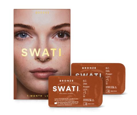 Dark brown coloured lenses - Bronze SWATI Monthly Lenses
