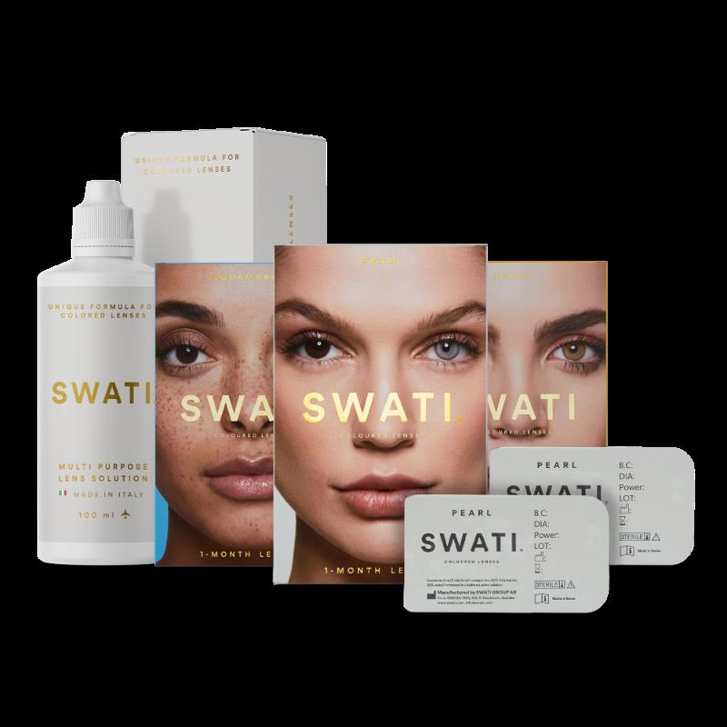 3 pack value bundle of monthly lenses - SWATI Glam bundle & gift set