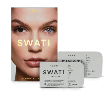 Grey coloured lenses - Pearl SWATI Monthly Lenses