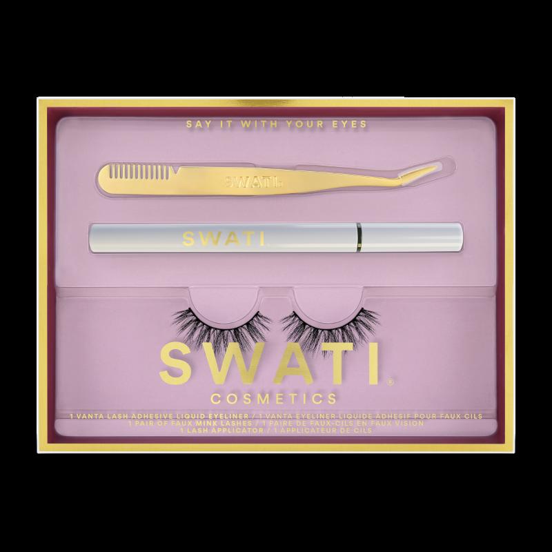 SWATI Love kit with Vanta eyeliner, lash applicator and crystal vegan lashes.