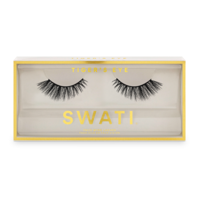Tiger's eye packaging - flared shaped vegan & cruelty free lashes