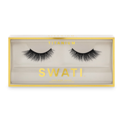 Titanium packaging - rounded shaped vegan & cruelty free lashes